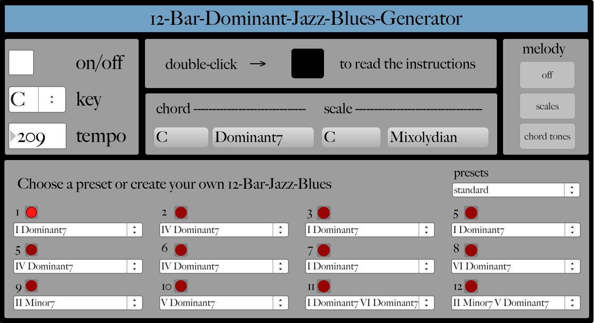 Jazz blues generator