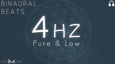 4Hz Theta Binaural Beats Low Frequency