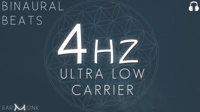4Hz Theta Binaural Beats Ultra Low Carrier