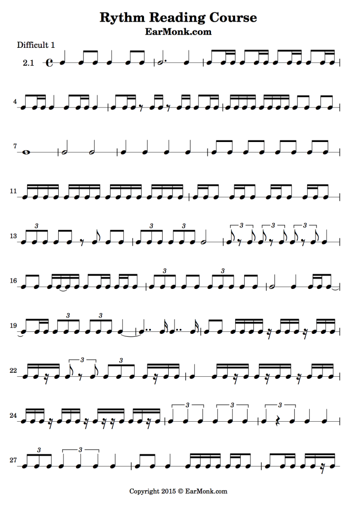 Rhythm Exercise Difficult