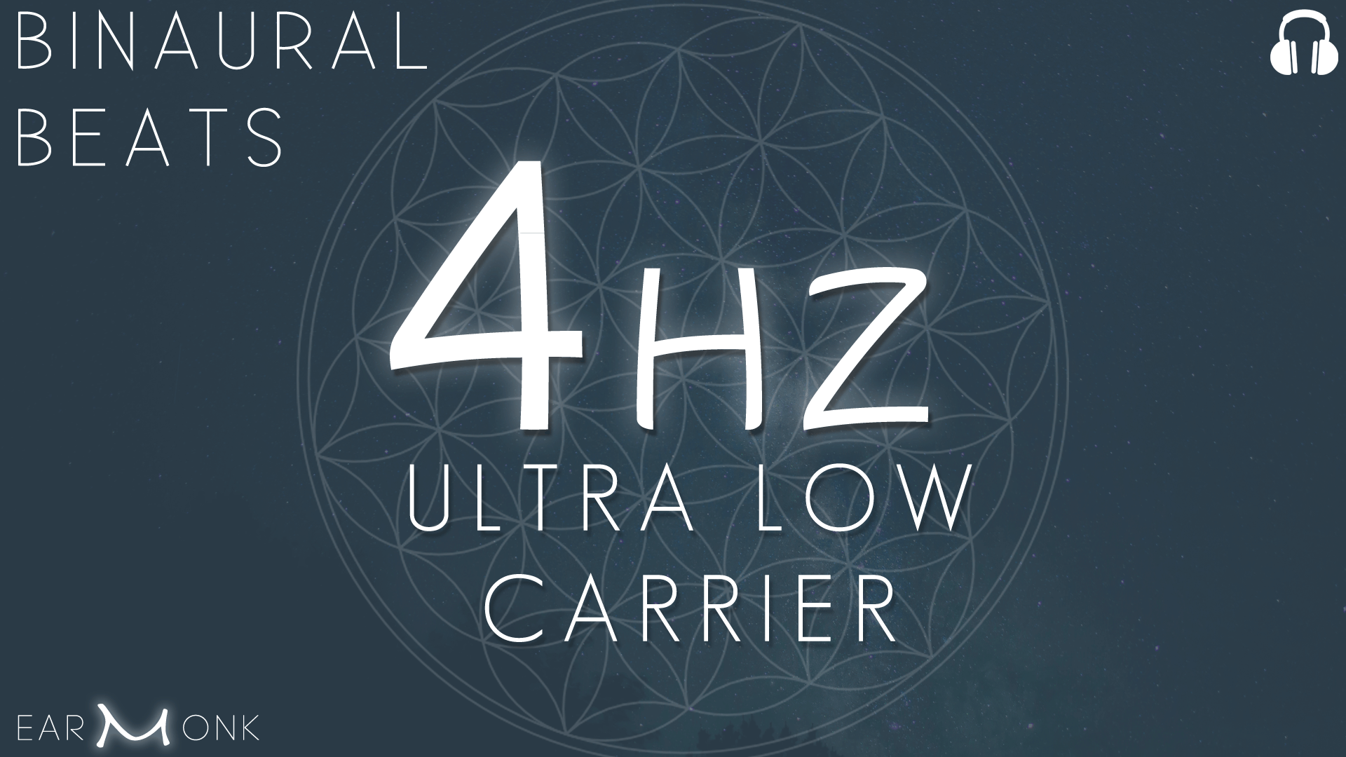 4Hz Theta Binaural Beats Ultra Low Carrier
