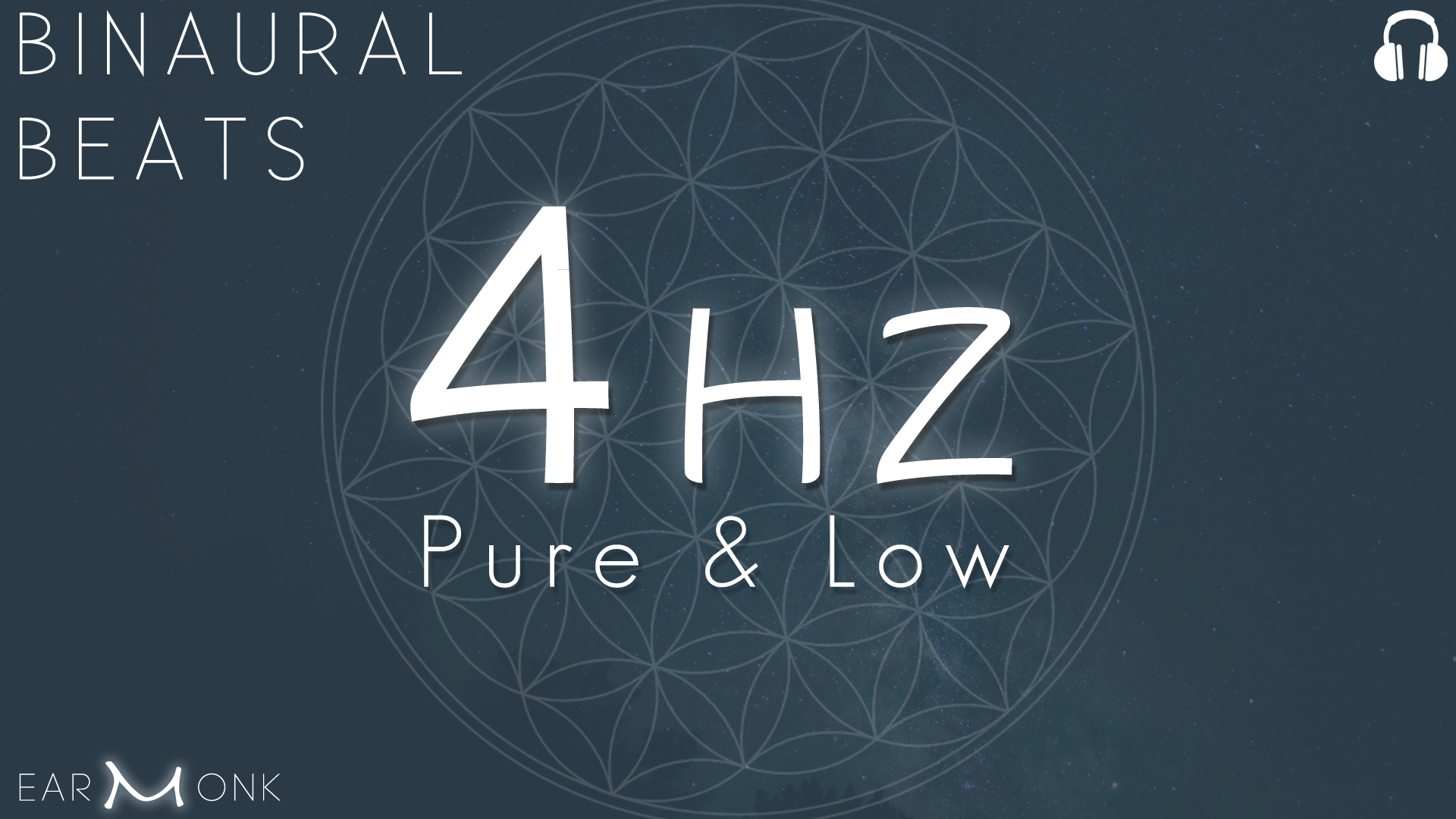4Hz Theta Binaural Beats Low Frequency